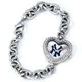MLB Women's MH-NY3 Heart Collection New York Yankees Pinstripe Watch