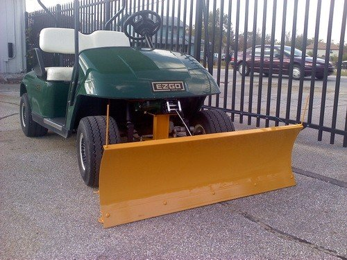 "Ezgo Txt Golf Cart Heavy Duty ""Breakaway"" Snow Plow - 1996-Up Gas And Electric"