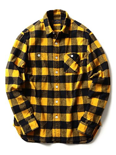 (ビームスプラス) BEAMS PLUS BEAMS PLUS / バッファローチェック ワークシャツ 11112493139  YELLOW M