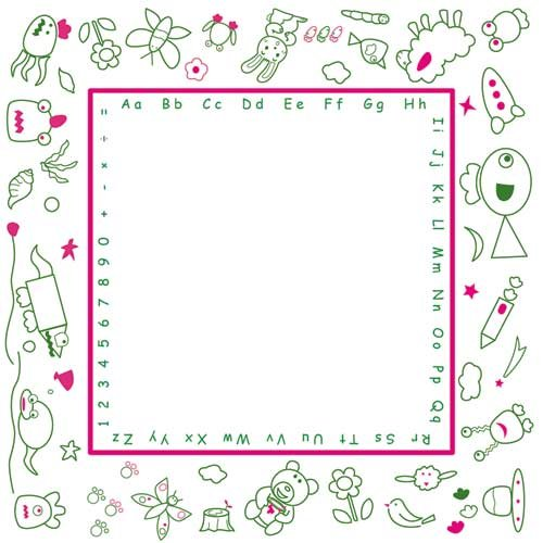 Kids Touch Washable Coloring Play Mat in Maze Pattern