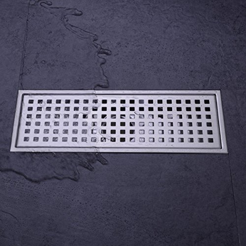 hanebath linear shower floor drain with removal cover