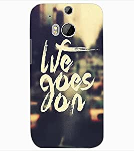 ColourCraft Quote Design Back Case Cover for HTC ONE M8