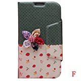 K9Q New Cute Korean Synthetic Leather Flip Wallet Case Protector Cover for Samsung Galaxy Note 2 N7100 F Style