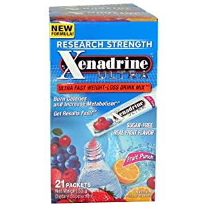 Xenadrine New Ultra Fast Weight Loss -Fruit Punch - 21 Packet(s)