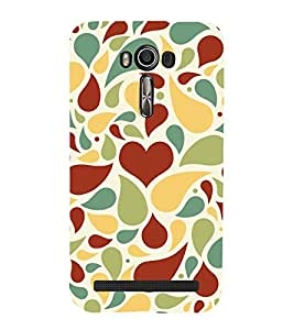 Brown Heart Wallpaper 3D Hard Polycarbonate Designer Back Case Cover for Asus Zenfone 2 Laser ZE500KL (5 INCHES)
