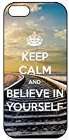 Keep Calm And Believe In Yourself 925, iPhone 5 Premium Hard Plastic Case, Cover, Aluminium Layer, Quote, Quotes, Motivational, Inspirational, Theme Shell by Go Banners