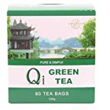 Case of 5 x Qi Green Tea (80 Bags) Gluten Free Vegan
