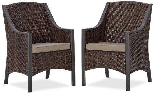 Strathwood Mason All-Weather Wicker Dining Chair, Set of 2