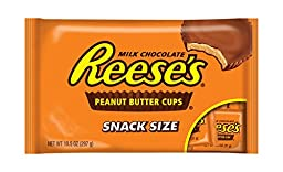 REESE\'S Snack Size Peanut Butter Cups, (10.5-Ounce Bag, Pack of 6)