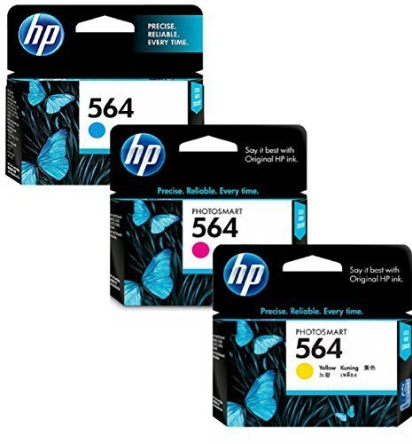 HP 564 Cyan, Magenta & Yellow Original Ink Cartridges, 3 pack (CD994FN)