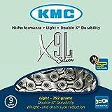 KMC X9L Silver/Grey 9 Speed MTB Road Bike Chain & Quick Link