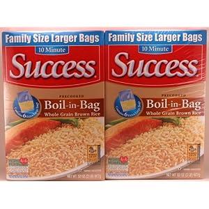 Success 10 minute Precooked Boil-in-Bag Whole Grain Brown