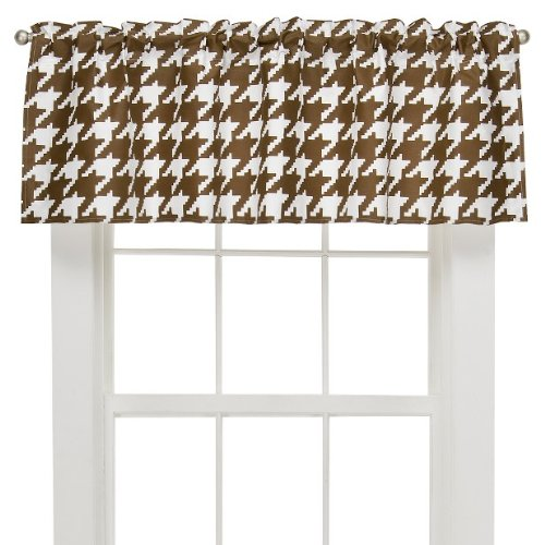 Houndstooth White/chocolate Valance