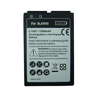 Extended Batterie Blackberry Bold. Neuf batterie pour RIM Black Berry Bold 9000, 3000mAh Li-Ion neuf
