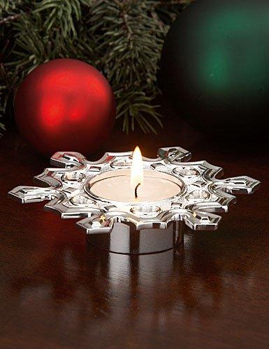 Lenox Christmas Tea Light Snowflake Silver Candle Holder