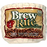 Brew Rite 4 Cup Coffee Basket Disposable Filters - 200 Ct