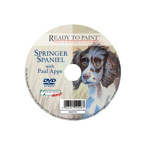 Ready To Paint Dogs & Puppies In Acrylics Dvd - Springer Spaniel With Paul Apps