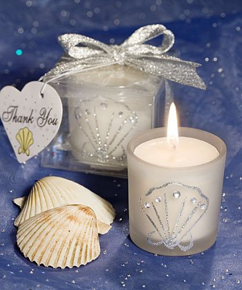 Shell Design Candle Favor (Set of 30) - Wedding Party Favors