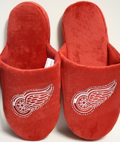 Cheap Detroit Red Wings NHL Womens Jeweled Slippers (B006KYRXWI)