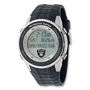 Mens NFL Oakland Raiders Schedule Watch by Jewelry Adviser Nfl Watches
