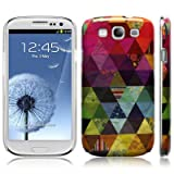 Samsung Galaxy S3 i9300 Pyramid Patchwork Image Hard Back Cover / Case / Shell / Shield - Multicoloured By Covert (Designed Exclusively By Creative 11)by Covert