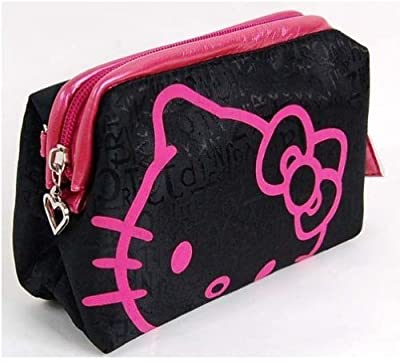 U-beauty Hello Kitty Cosmetic Hand Bag Make-up Case Black