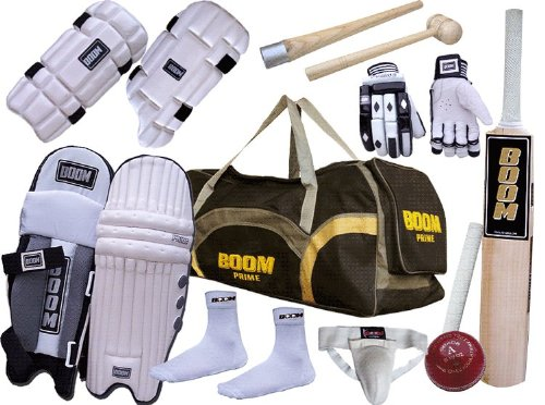 BOOM PRIME Professional complete cricket kit Set Cricket Bat ADULT (FREE UK SHIPPING)