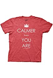 Big Lebowski Calmer Than You Are Mens Tee