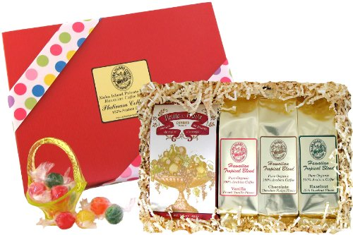 Flavored Hawaiian Coffee and Candy Gift for Christmas