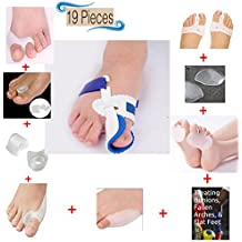 Dr. Kelly's *COMPLETE Bunion Corrector Set Toe Separators Splint Treatment Relief Pack 9 Pairs Of Toe Spacers/...