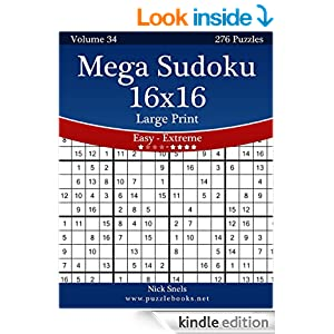 Extreme Sudoku 16X16 Printable