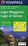Carte touristique : Lago Maggiore, Lago di Varese