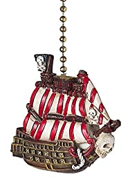 Pirate Ship Skull and Crossbones Ceiling Fan Pull