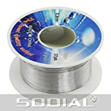 SODIAL(R) Solid Solder 0.3mm Dia Flux Core 63% Tin 37% Lead Long Wire Reel - SODIAL Retail Packaging