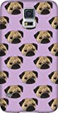 Disguised® 'Pug Life' Design Samsung Galaxy S5 i9600 Case Cover by Katie Reed - 3D Full Wrap Design