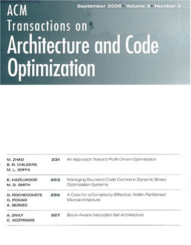 Acm Transactions on Architecture and Code Optimization