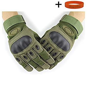 Dopobo Outdoor Sports Outdoor Full Finger Fingered Glove Military Tactical Airsoft Hunting Cycling Riding Bike Bicycle Gloves from Dopobo