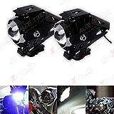 #5: AllExtreme Three Mode High Beam 2x 125W CREE U5 LED Lamp Headlight Fog Light Spotlight for Motorcycle/ATV/Truck w/ (Pack of 2)