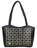 Coash Black Cutwork Handbag