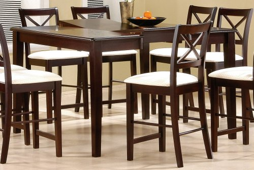 Buy Low Price Coaster Cappuccino Counter Height Dining Table – Coaster 5846 (B004OGZ22M)