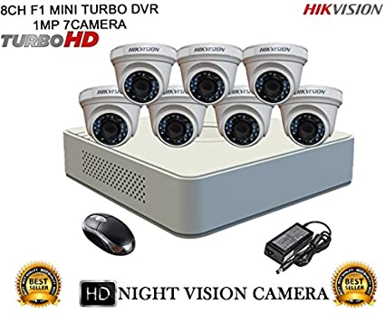 Hikvision-DS-7108HGHI-F1-Mini-8CH-Dvr,-7(DS-2CE56COT-IRP)-Dome-Cameras-(With-Mouse)
