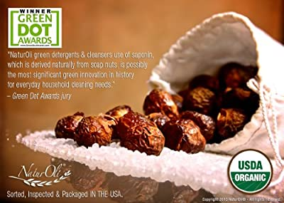 NaturOli EXTREME 18X Soap Nuts / Soap Berry Liquid Detergent & Multi-purpose, Non-toxic, Green Household Cleaner. SUPER-CONCENTRATED. Award winning! Made in USA with USDA Organic Soap Nuts!