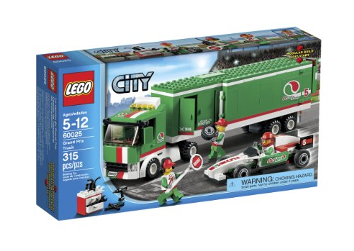 LEGO City 60025 Grand Prix Truck Toy Building Set