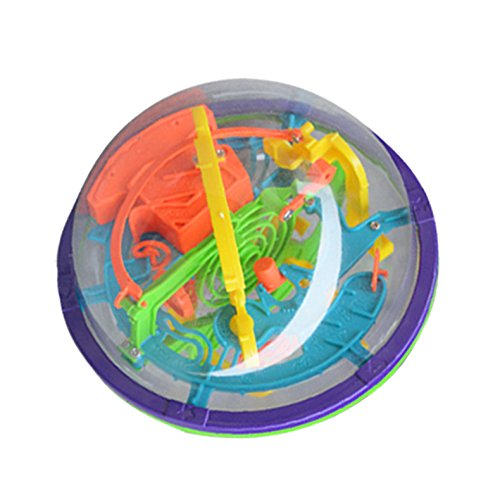 tenflyer 3D Magic Labyrinthe à bille fermé Niveau Intellect Jouet Boule Orbit Intelligence Jouet pour enfant