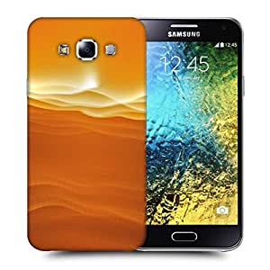 Snoogg Sandy Sunset Printed Protective Phone Back Case Cover ForSamsung Galaxy E5