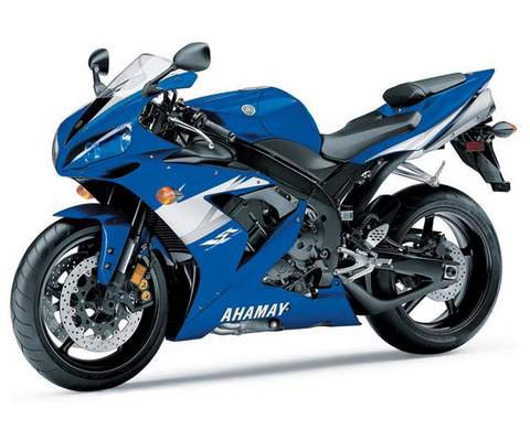 2005 Yamaha YZF-R1 Blue Motorcycle 1/12 by New Ray 42333a