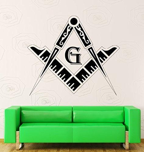 GGWW Wall Stickers Vinyl Decal Masons Masonic Simbol Freemasons Secret Organization (Z1158I)