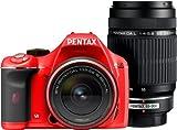 PENTAX デジタル一眼レフカメラ K-x ダブルズームキットレッド