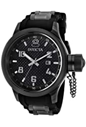Invicta Men's 0555 Russian Diver Collection Black Rubber Watch