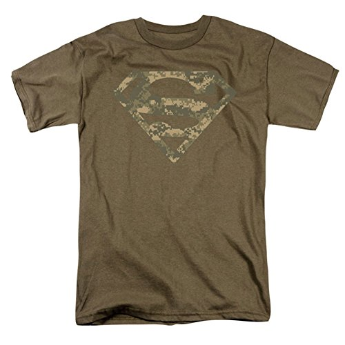 Superman Men's Army Camo Shield T-shirt Green